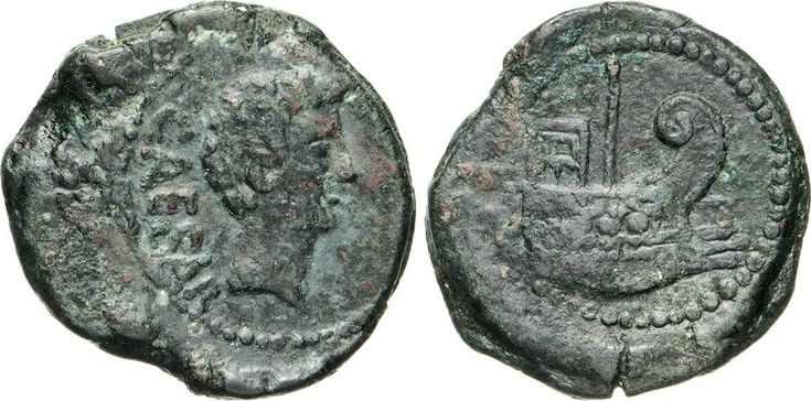 NumisBids: Numismatica Varesi s.a.s. Auction 65, Lot 139 : OTTAVIANO (40 a.C.) Dupondio, Gallia, Narbo. D/ Testa di Ottaviano...