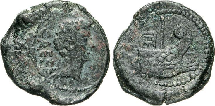 NumisBids: Numismatica Varesi s.a.s. Auction 65, Lot 139 : OTTAVIANO (40 a.C.) Dupondio, Gallia, Narbo. D/ Testa di Ottaviano...