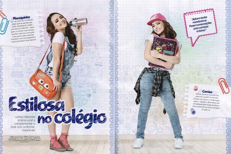 No mês de Agosto a revista Toda Teen trouxe um editorial sobre o volta as aulas com as bolsas da coleção #LarissaManoelaByBiro.