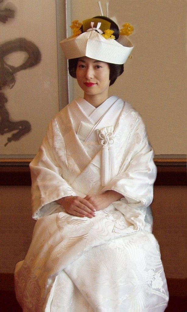 Abito da sposa giapponese bianco