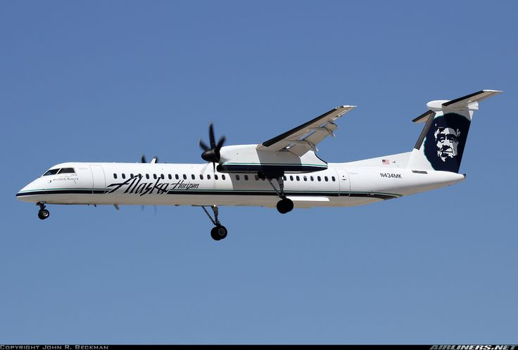 Alaska Airlines (Horizon Air) N434MK De Havilland Canada DHC-8-402Q Dash 8 flight from Seattle to Medford