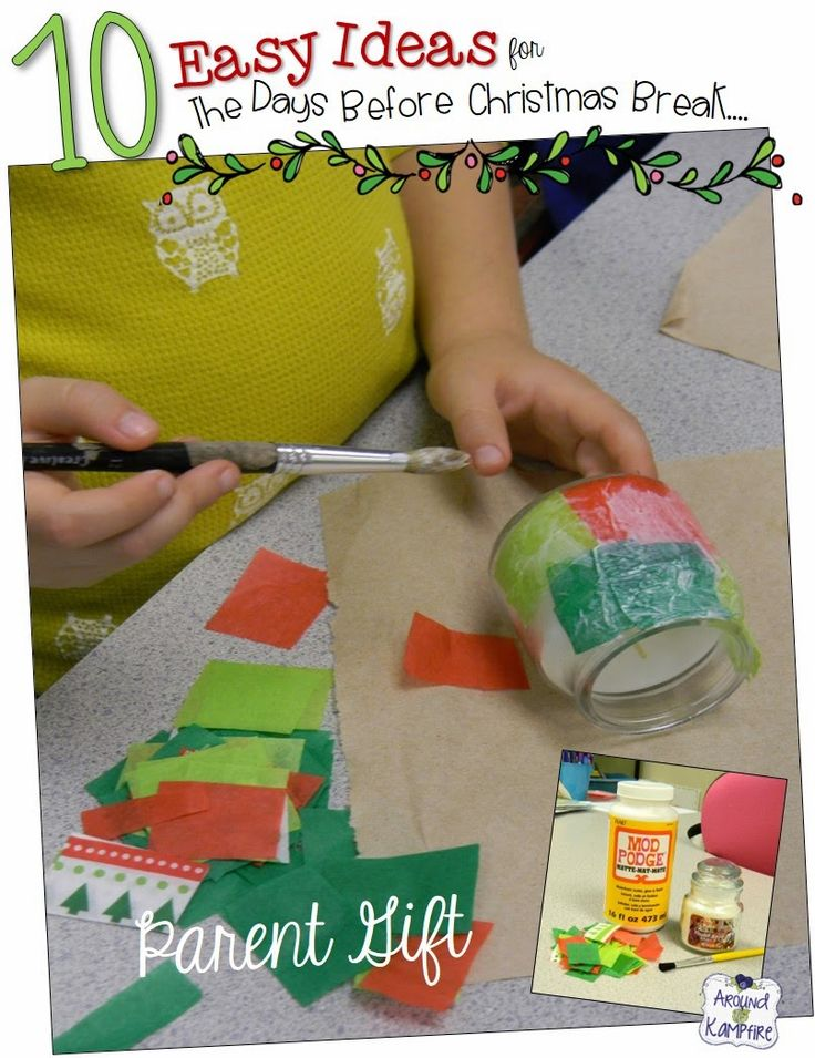 10 Easy Classroom Christmas Ideas For That Last CRaZy Week Before Break! Make this simple parent gift!