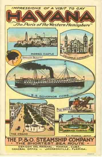 vintage Havana travel poster