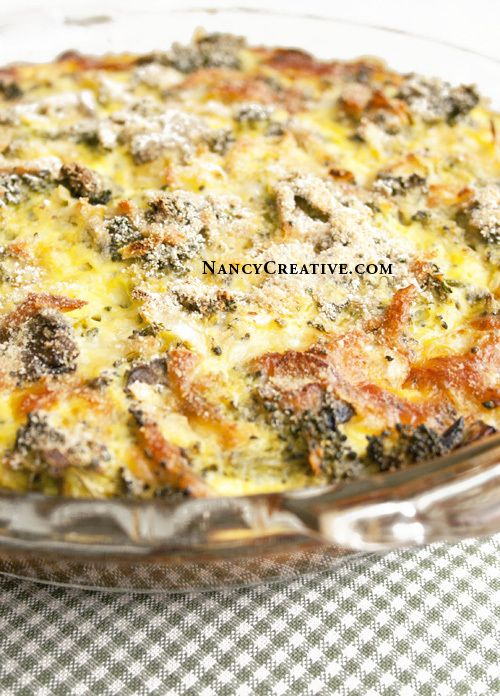 Crustless Broccoli Quiche | Dinner | Pinterest
