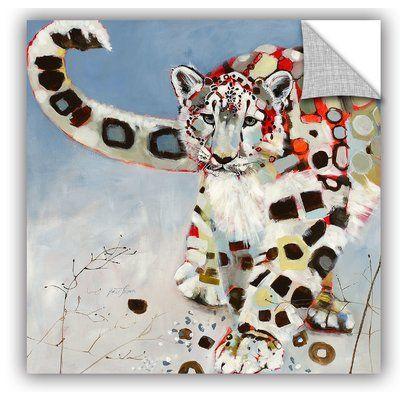 "ArtWall Britt Freda Snow Leopard Wall Decal Size: 10"" H x 10"" W x 0.1"" D"