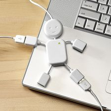 Simple, but cute and takes up a lot less space than a Tardis USB hub. LOL