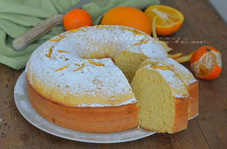 Ciambellone con arance mandarini e yogurt