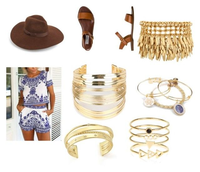 """cochella"" by keeshac on Polyvore featuring Steve Madden, WithChic, Henri Bendel, Alex and Ani, Accessorize, Elizabeth and James, Lack of Color, women's clothing, women and female"
