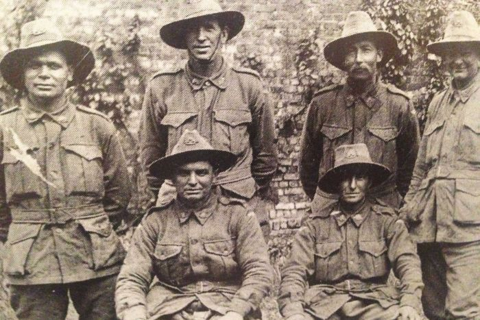 Private Cyril Rigney and comrades in France