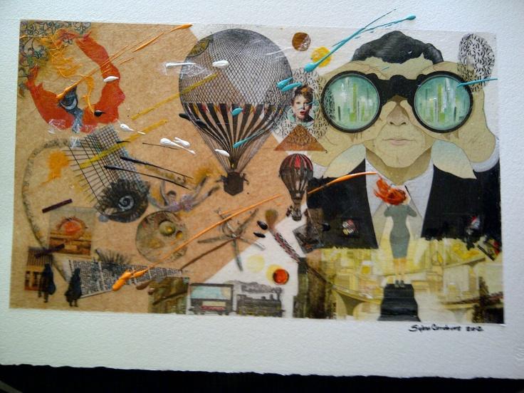 "Mix media collage ""Futuro"" 2012"