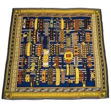 """Hermes """"Colliers de Chiens"""" Cashmere and Silk Shawl 140cm"""