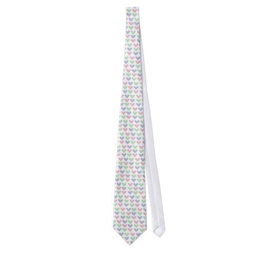 Pastel hearts tie