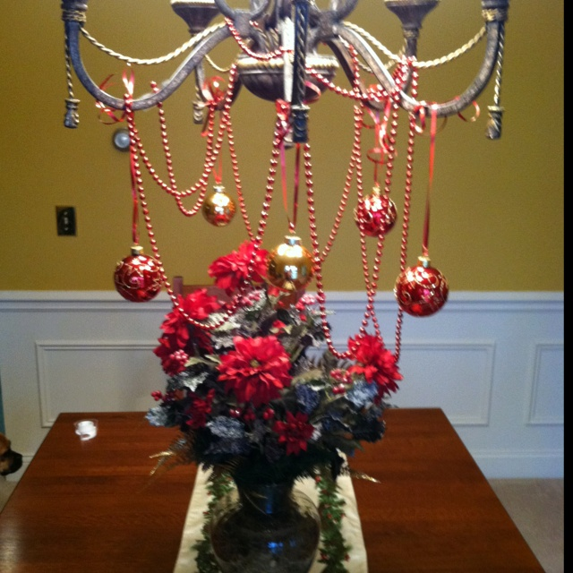 76 best decorated chandeliers images on pinterest chandeliers cute way to decorate chandelier aloadofball Images