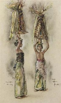 Willem Gerard Hofker - Dua gadis Bali ,1938