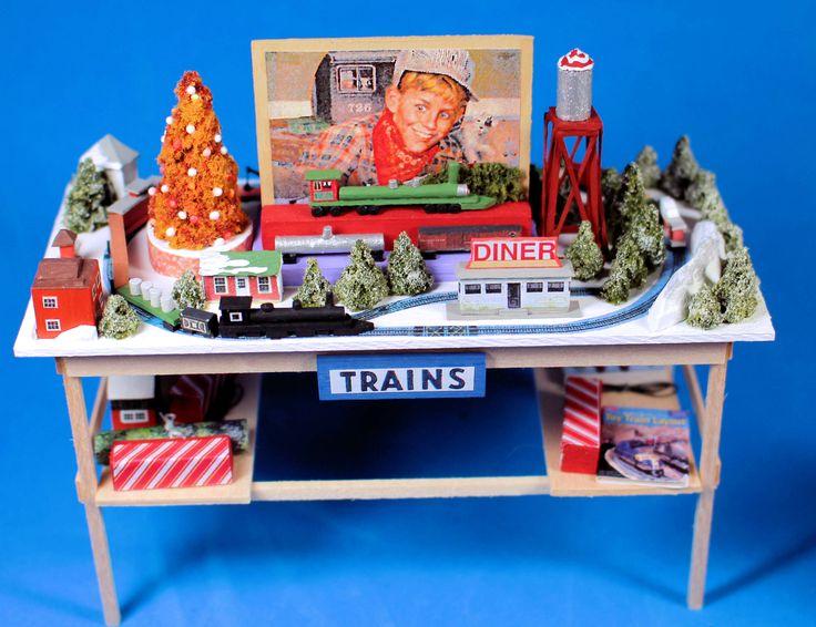 Steve Beebe -  Model train set - Christmas shop display