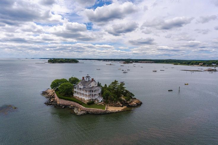 """Perhaps it's true what John Donne said, that """"no man is an island,"""" but that truism doesn't diminish the allure of owning and living on an isle of one's own.   Even more appealing would be this constellation of eight private islands, tucked amid the Thimble archipelago just off a tranquil protected stretch of Connecticut coastline that became a popular summer resort area in the late 19th century. Each of the picturesque islands has a unique character, and each offers an assortment of…"""