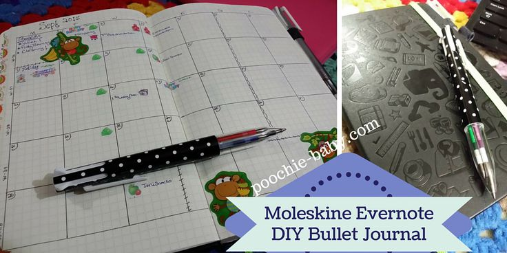 My new bullet journal. Start one today in a Moleskine Evernote Journal