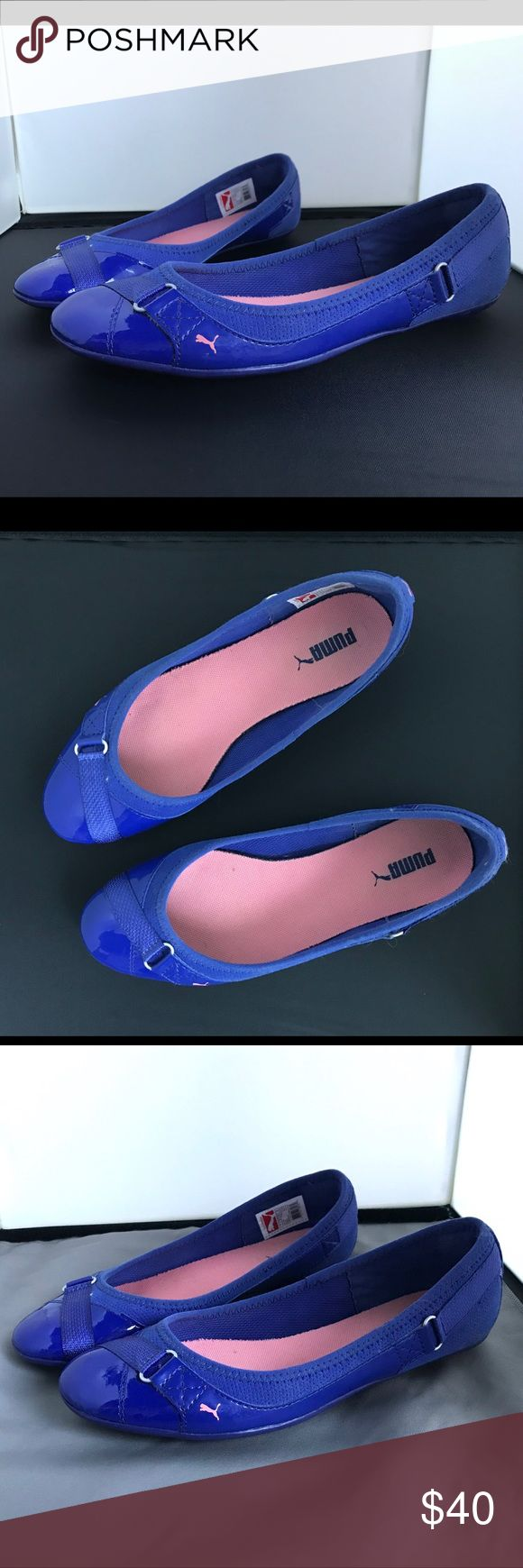 PUMA Bixley Glamm shoes Women's 8.5 Never worn, incredibly comfortable flats. I have them in a bunch of colors, but this blue is just a bit too vivid for my wardrobe palette. Color: Clematis Blue/Salmon Rose. Puma Shoes Flats & Loafers