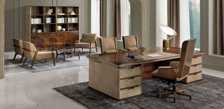 Classic office furniture Asnago by i4Mariani, design Umberto Asnago