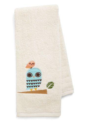 Owl Clean Hand Towel, #ModCloth