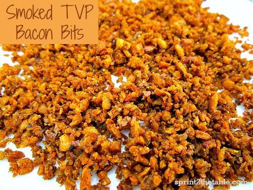 Smoked TVP Bacon Bits #vegan