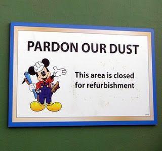 Walt Disney World and Disneyland Refurb List released 9/15/14