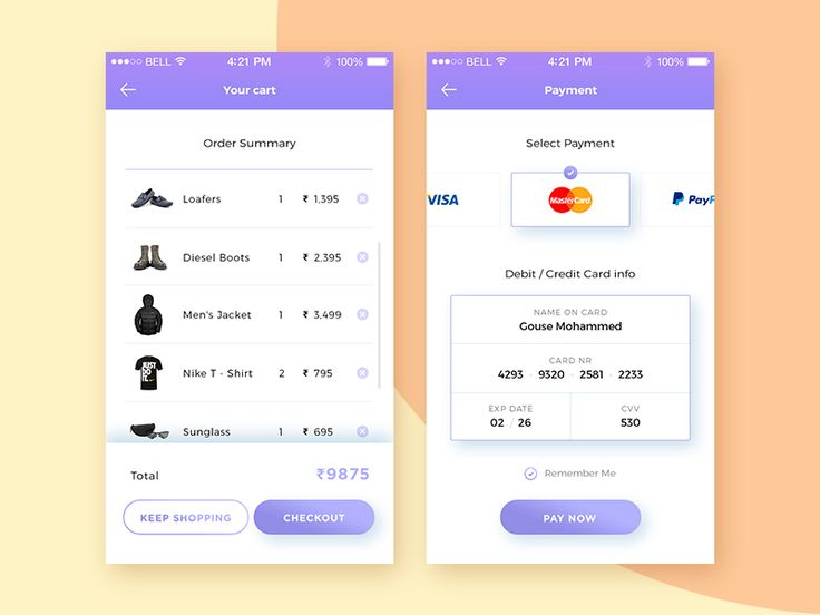 Daily UI :: 002 Credit Card Checkout by Gouse Mohammed