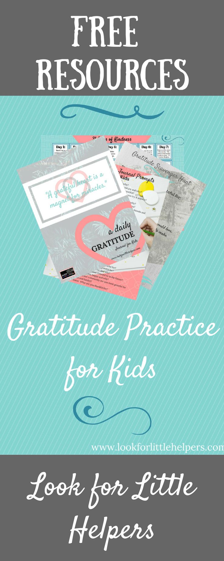 FREE resources to teach your kids to be grateful! And, a FREE random acts of kindness calendar printable, too!