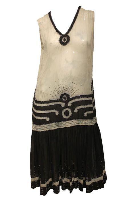 1920s black and white Flapper dress More