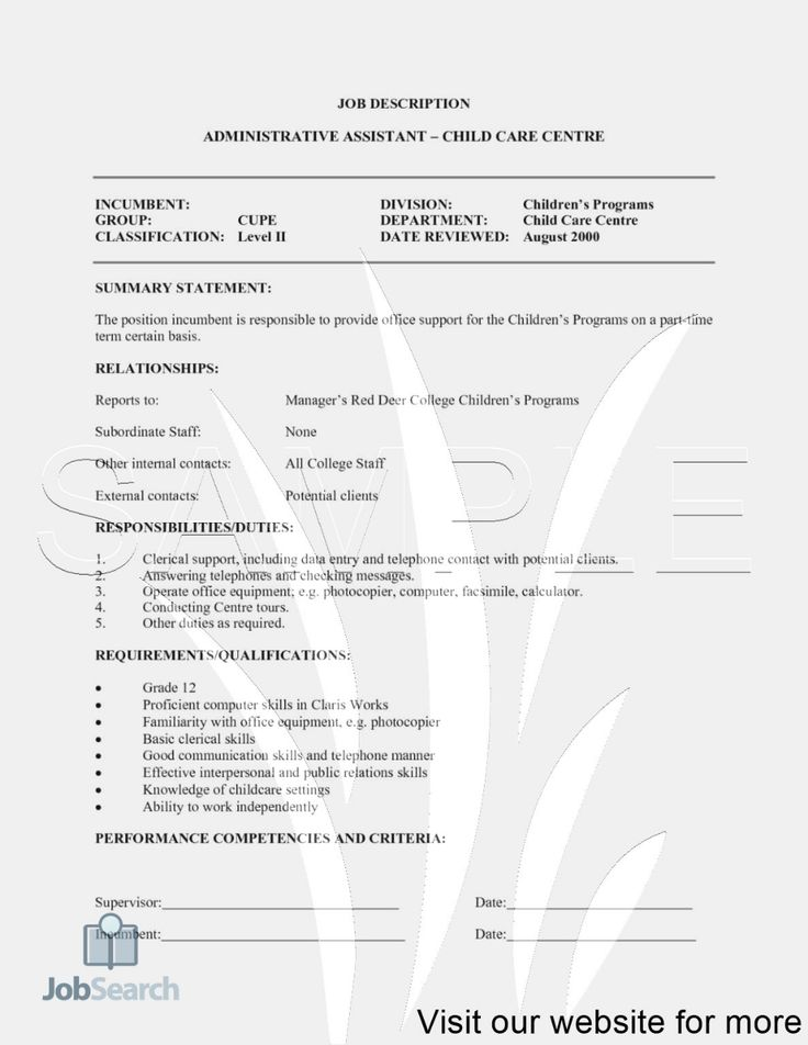 Resume for Childcare Job in 2020 Childcare jobs