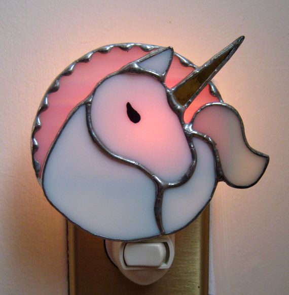 Stained Glass Unicorn Night Light by windflower on Etsy, $16.00