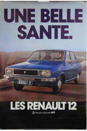 Affiche originale Une belle santé. La Renault 12