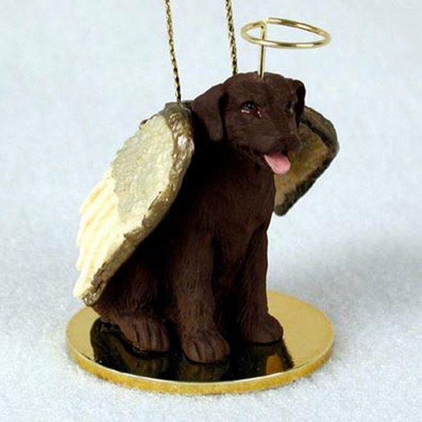 Irish Wolfhound Ornament Angel Figurine Hand Painted