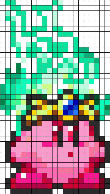 Minecraft Pixel Art Templates: Kirby | pixel art | Pinterest ...