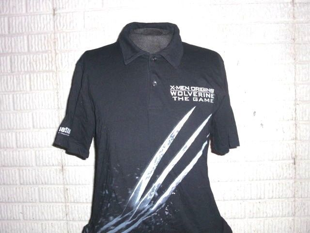X-Men Origins WOLVERINE THE GAME black polo shirt Large #PoloRugby