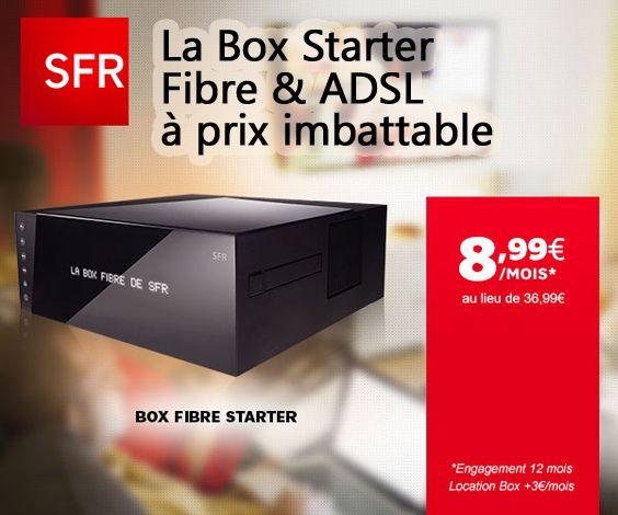 sfr propose sa box starter fibre ou adsl en vente priv prix imbattable de box home de sfr pack
