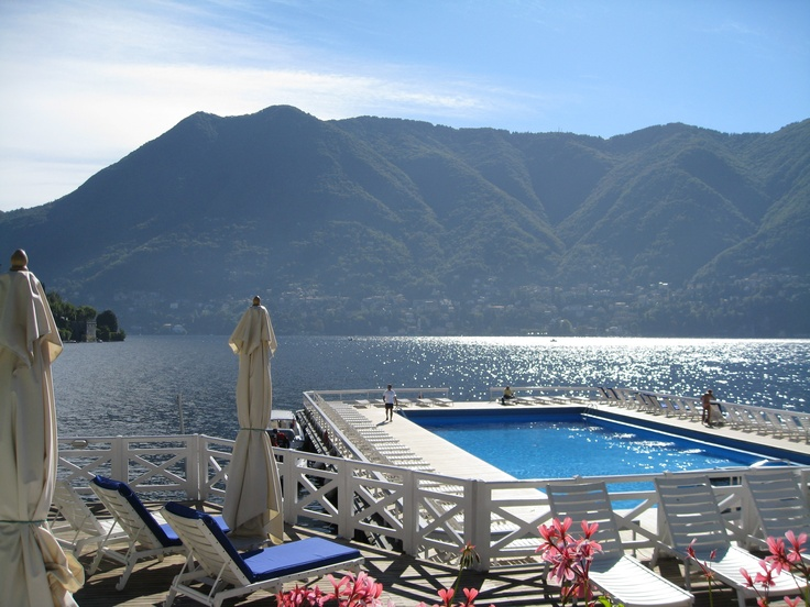 Villa d'Este in Lake Como, Italy has the perfect outdoor pool located right on the lake!