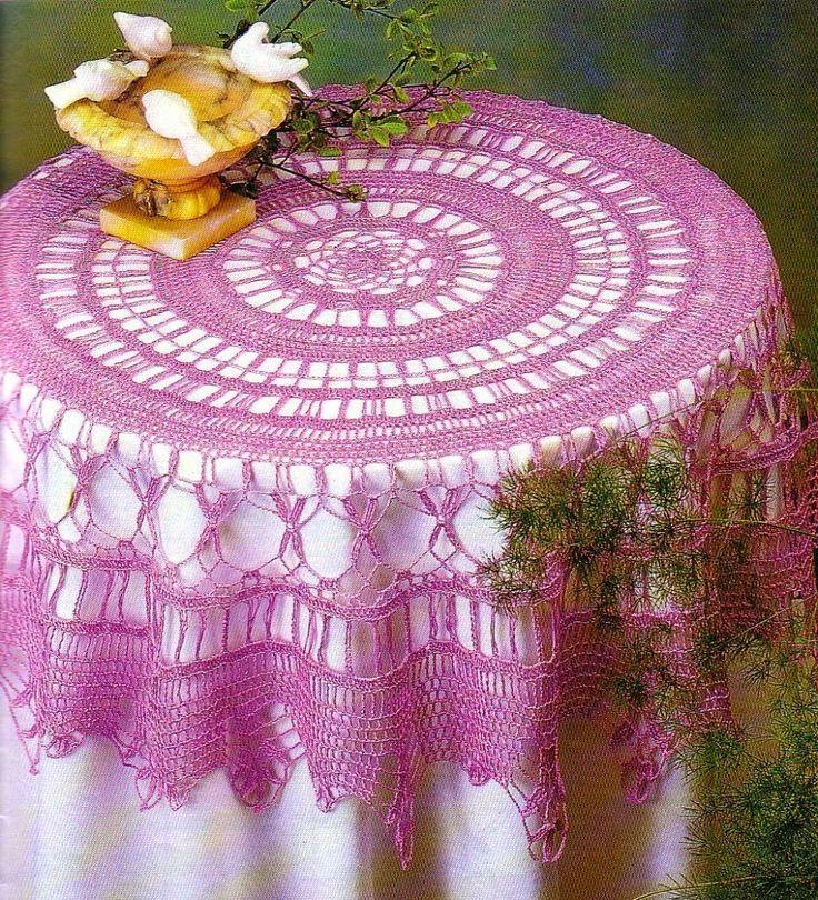 tovaglia rotonda | Hobby lavori femminili - ricamo - uncinetto - maglia