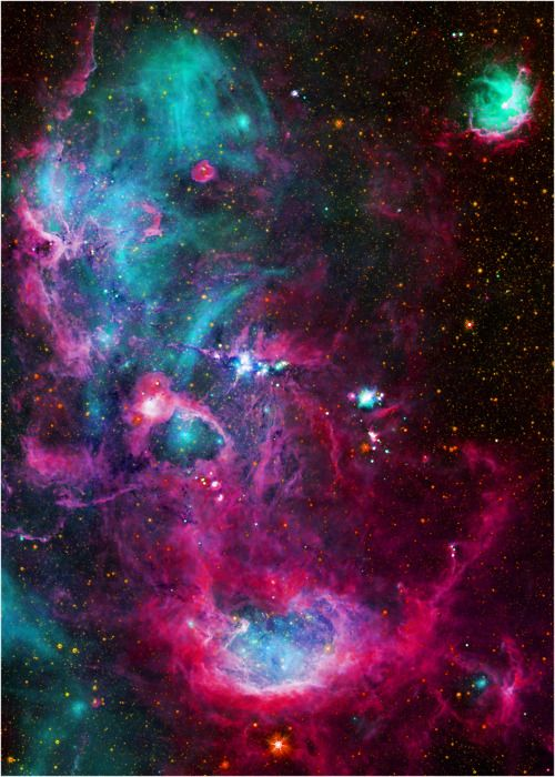A stellar nursery in the Cygnus X star forming region