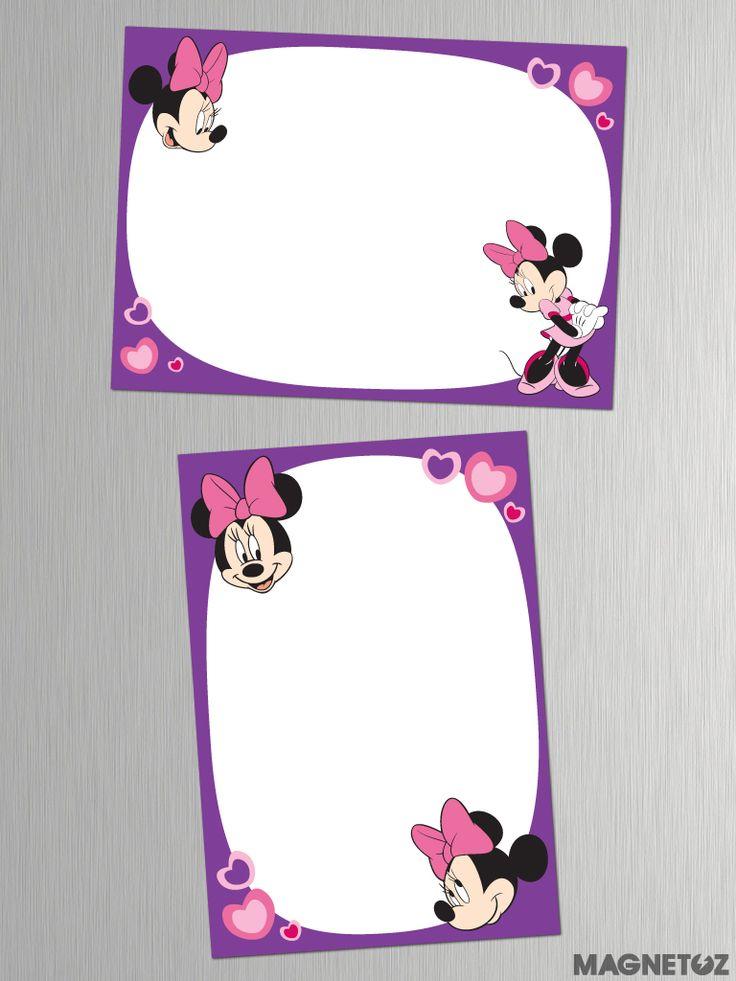 Pizarras Imantadas de Minnie Mouse! Diferentes tamaños.