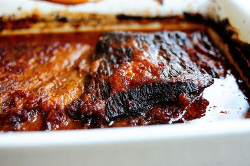 Pioneer Woman's brisket with ketchup marinade. Making this for dinner this weekend!