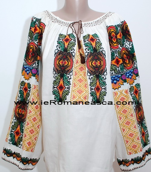 Camasa Populara Bucovina - Ie Romaneasca - traditional costume Romania