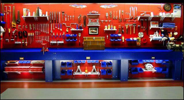 Ultimate garage tool bench #workshop #lighting