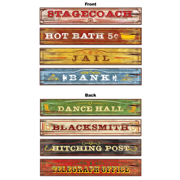 Western Sign Cutouts (4 count)