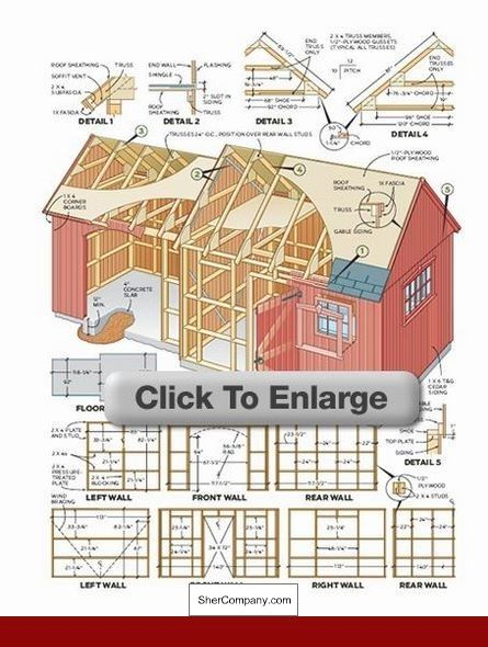 Shed Plans Parts List And Pics Of Plans To Build A Utility Shed