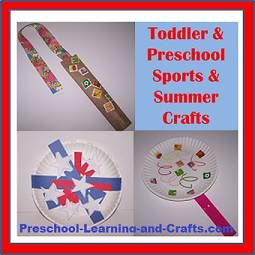 Fun and easy sport camp crafts for kids. Soccer crafts, tennis crafts, gymnastics crafts, and more!