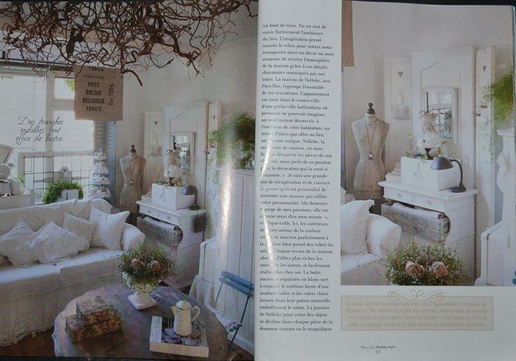Pagina uit de shabby style foto reportage van ons huis voor het tijdschrift shabby style - Tijdschrift chic huis ...