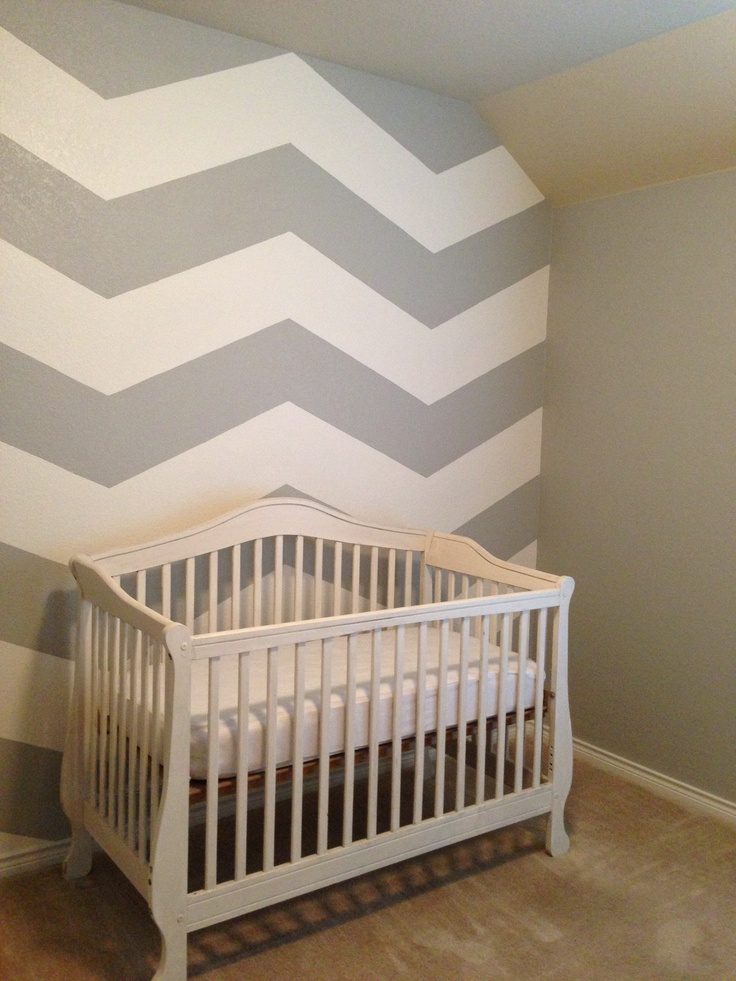 Chevron stripes gray walls do this for accent wall and for Accent stripe wall