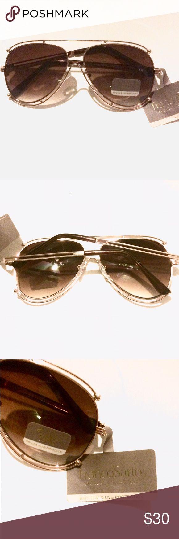 Franco Sarto Sunglasses NEW UV protective singlasses by Franco Sarto. Stylish double rim aviator/movie star look! Beautiful with full coverage! Franco Sarto Accessories Glasses