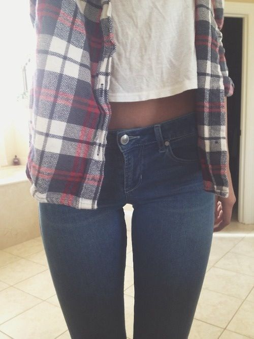 easy jeans and lumberjack shirt